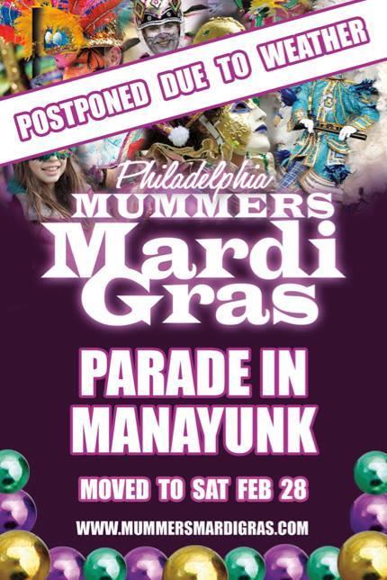Philadelphia Mummers Mardi Gras Parade in Manayunk
